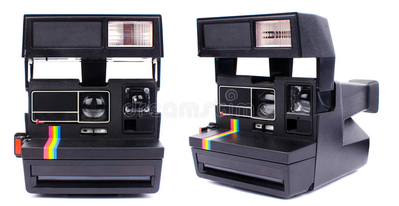 Polaroid camera stock photos