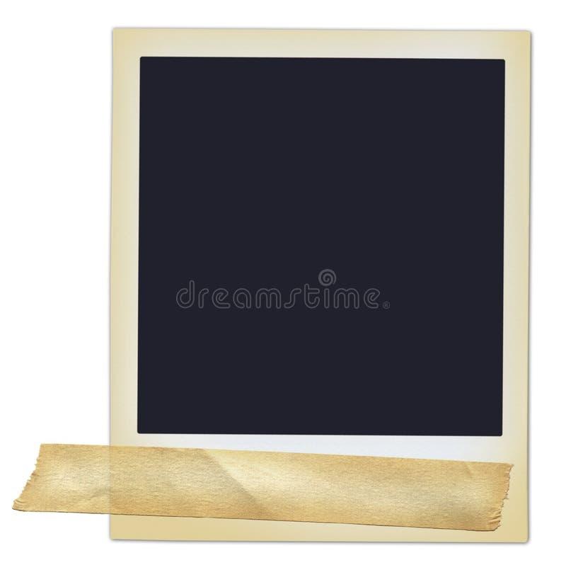 Polaroid con nastro adesivo immagine stock libera da diritti