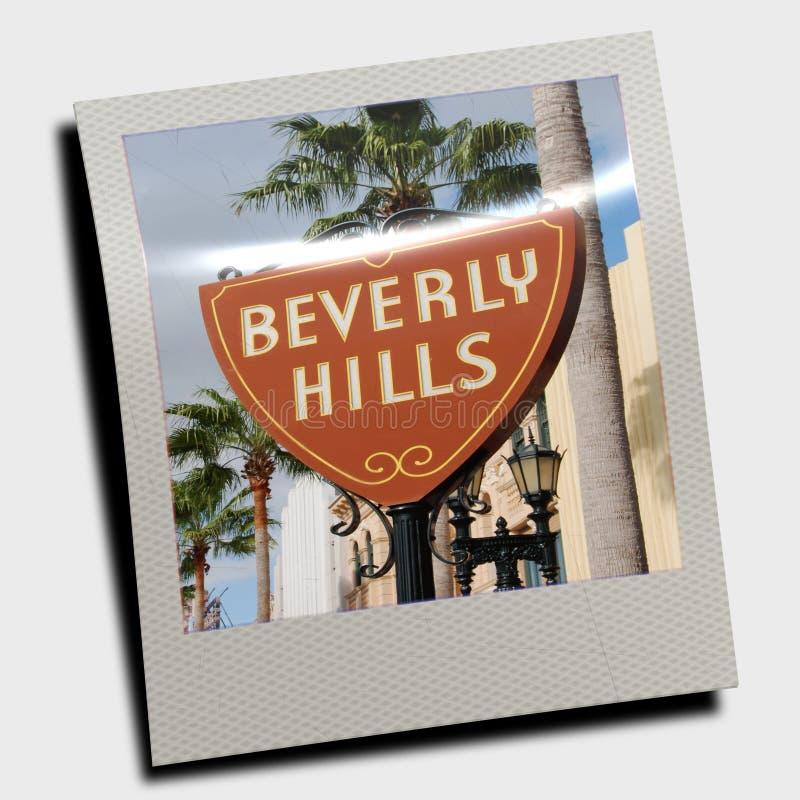 Polaroid del segno di Beverly Hills illustrazione vettoriale