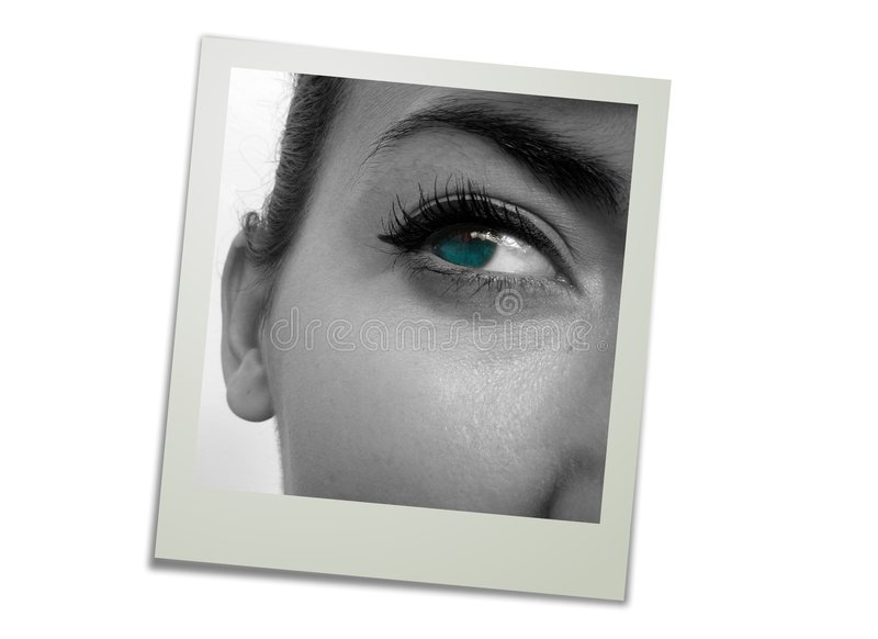 Polaroid do olho fotografia de stock royalty free