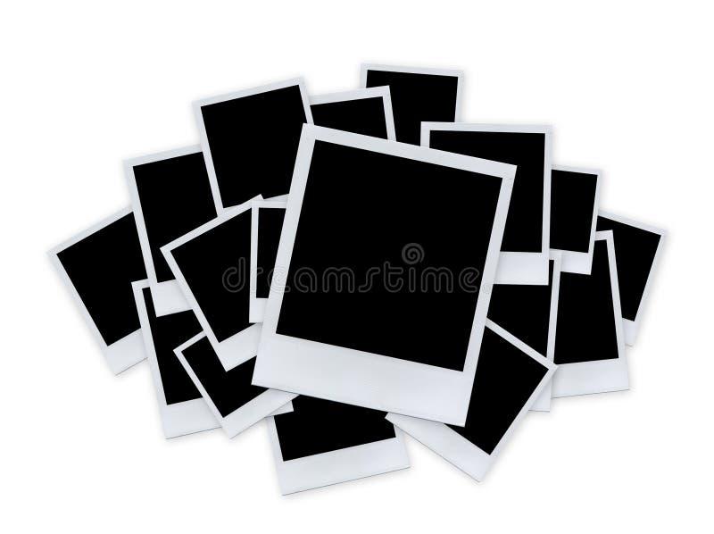 Polaroid- document op wit stock foto's