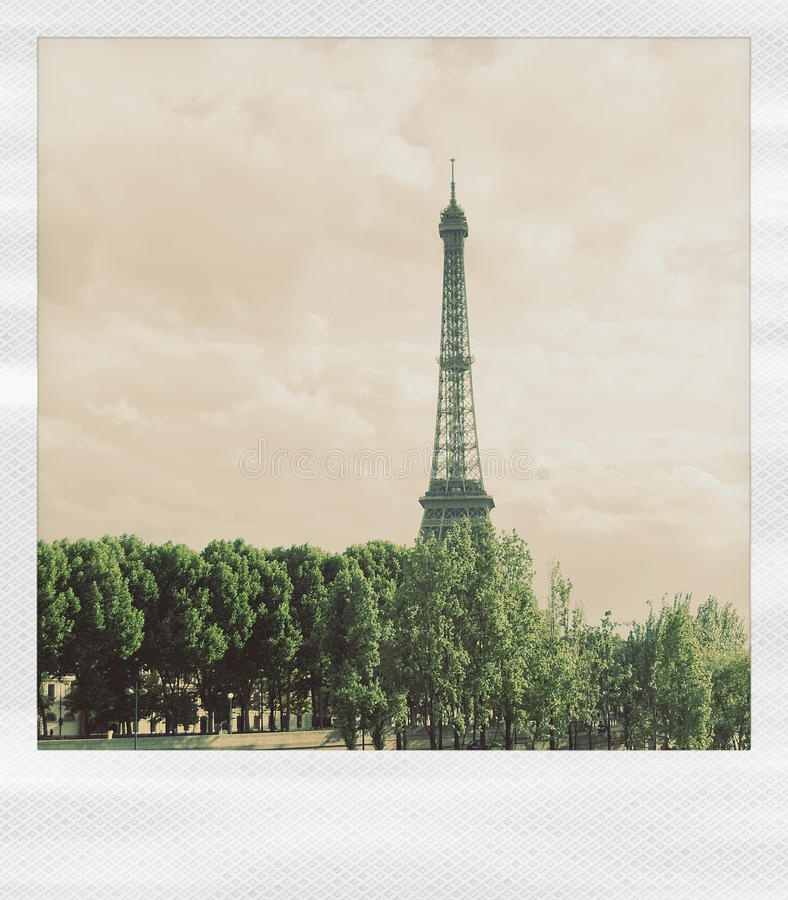 Polaroid eiffel royalty free stock photography