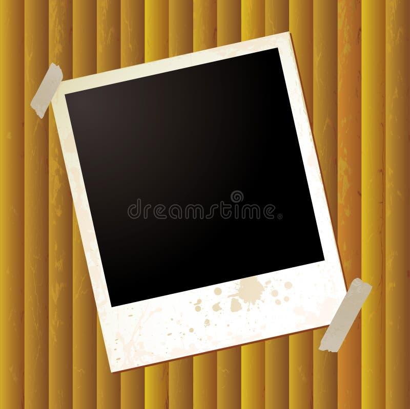 Polaroid- enige rimpeling stock illustratie