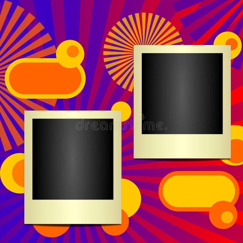 polaroid för 3 ramar stock illustrationer