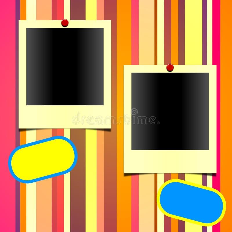 polaroid för 4 ramar vektor illustrationer