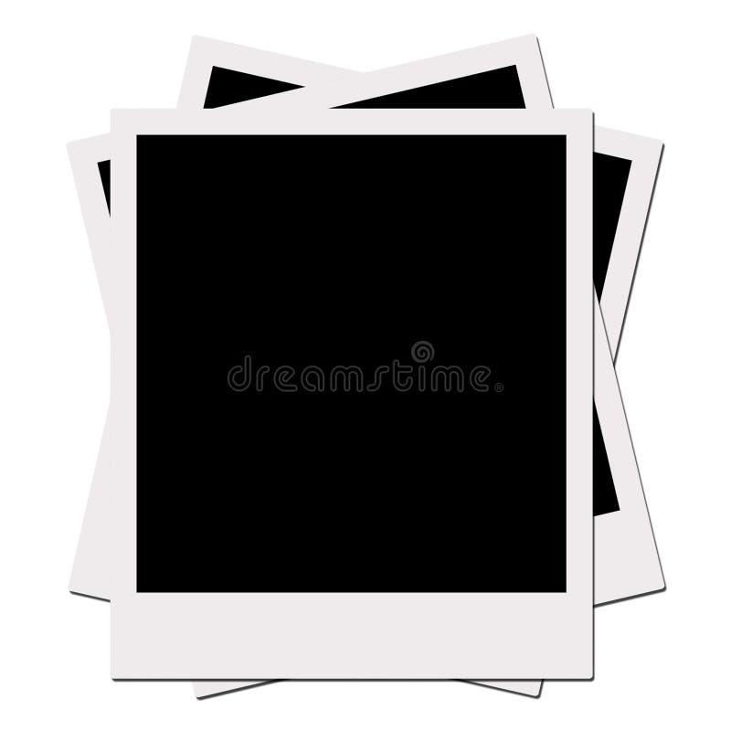 polaroid för clippingfilmbana vektor illustrationer