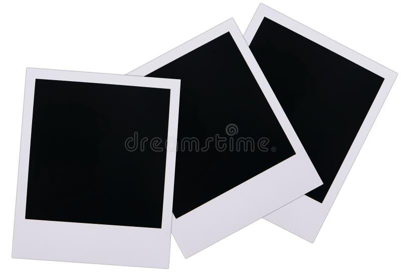 Polaroid film blanks. Old polaroid film blanks isolated on white background royalty free stock photos