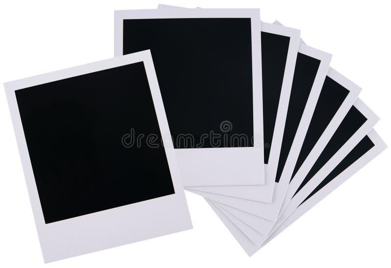 Polaroid film blanks. Old polaroid film blanks isolated on white background stock image