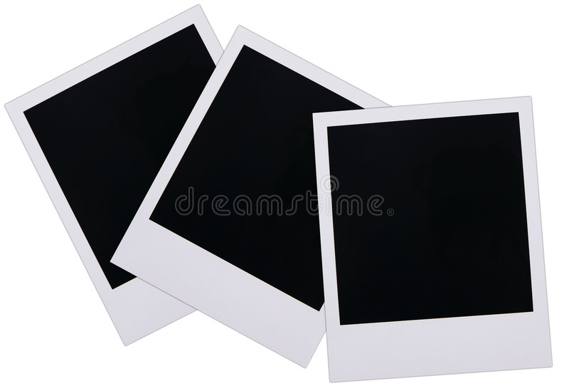 Polaroid film blanks. Isolated on white background stock image
