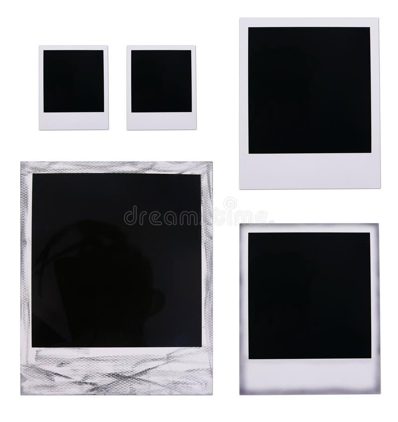 Polaroid film blanks. Isolated polaroid film blanks on white background stock photo
