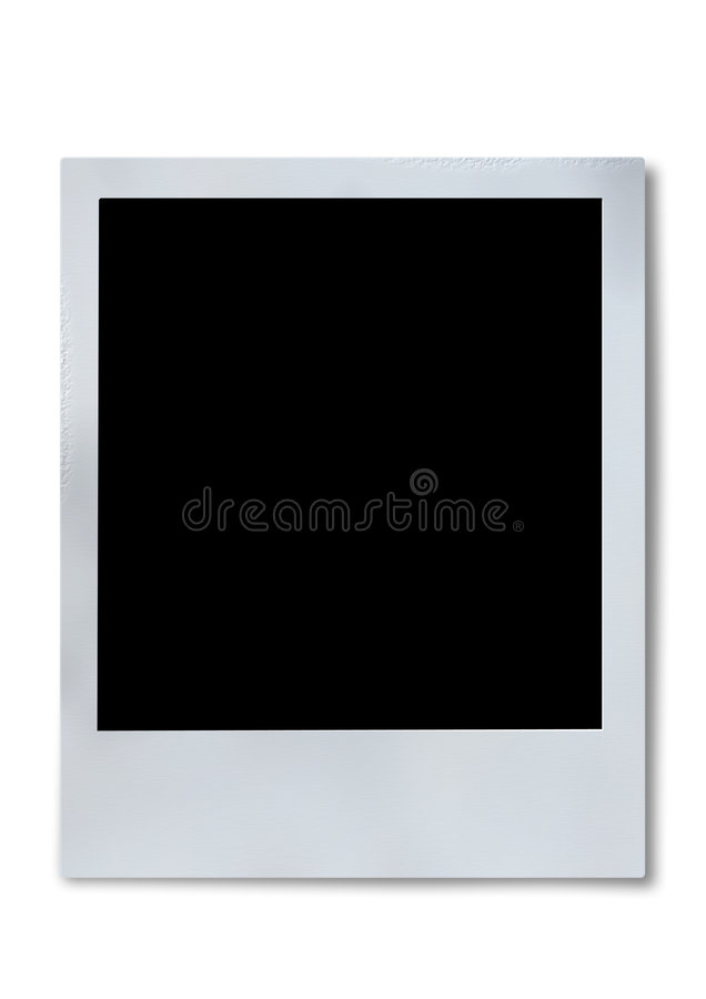 Polaroid film frame royalty free illustration