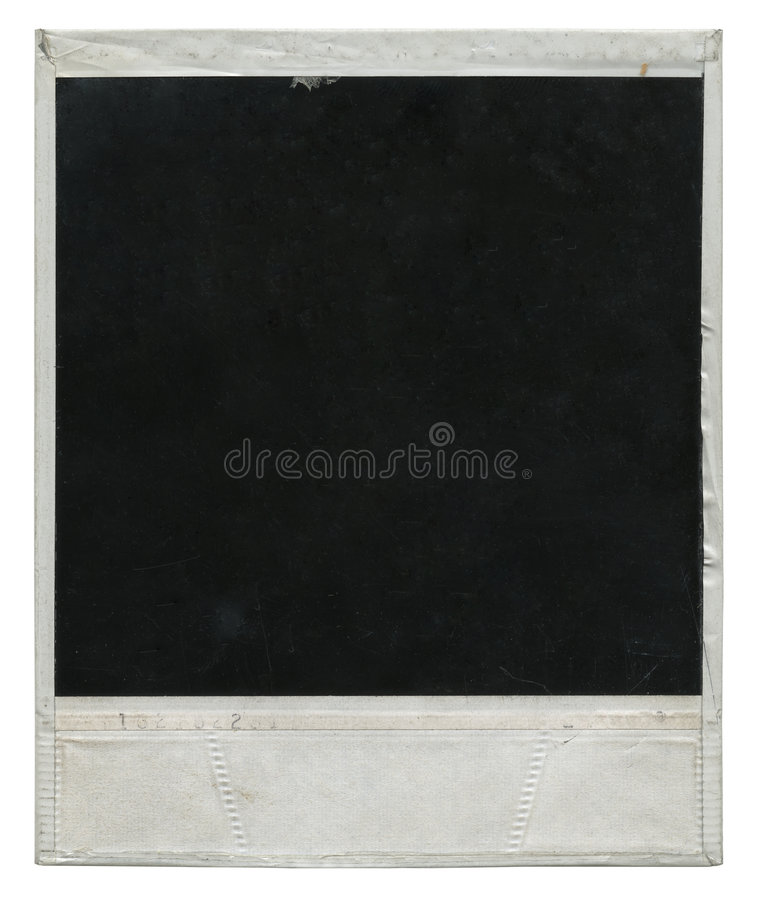 Polaroid film frame stock photo