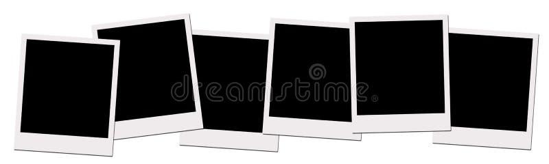 Polaroid- Films (met het knippen van weg) vector illustratie