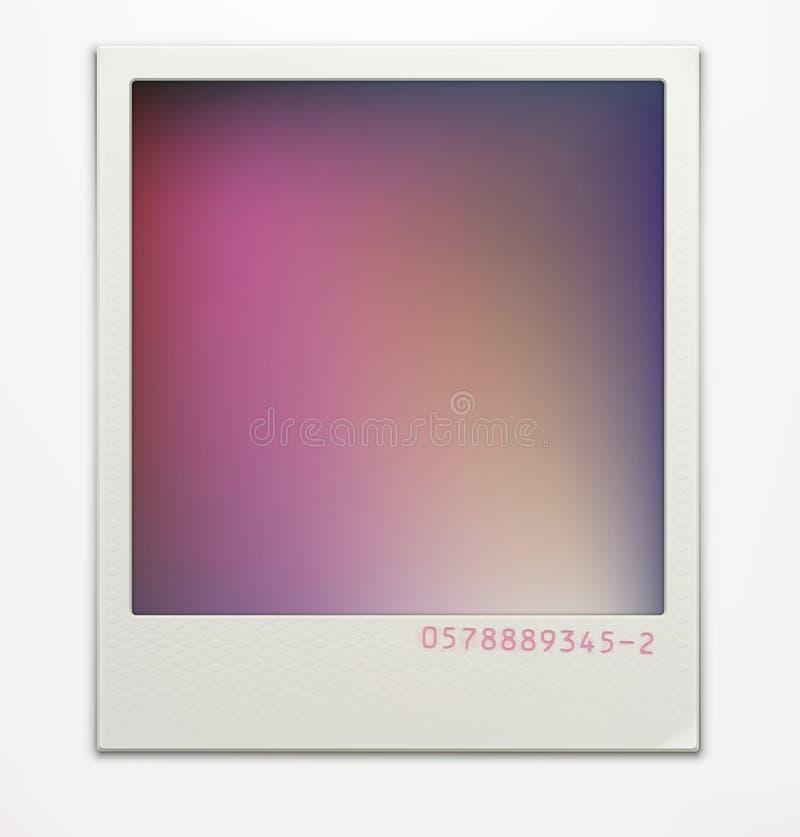Polaroid fotografii rama ilustracja wektor