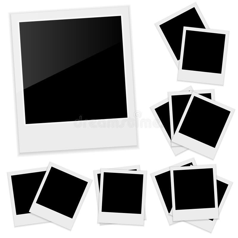Polaroid fotografii rama ilustracji