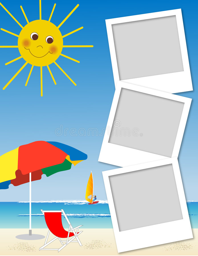 Polaroid- frame vector illustratie