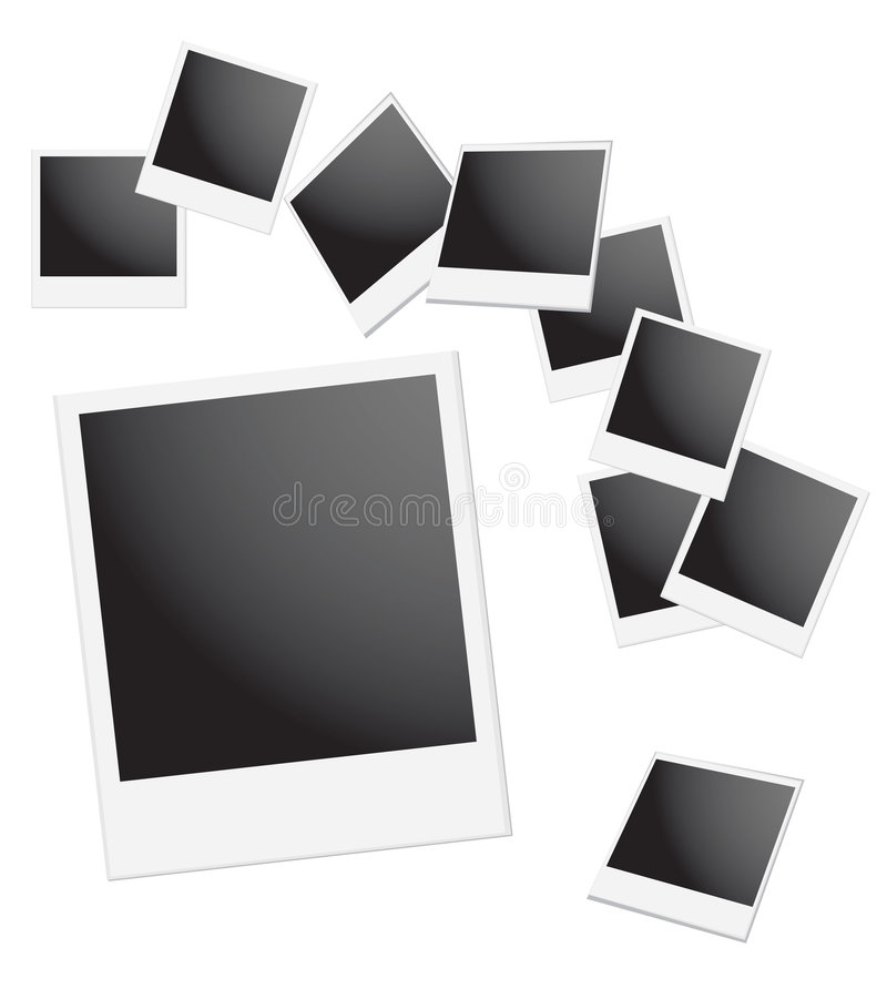 Download Polaroid Frame stock vector. Illustration of background - 4088982