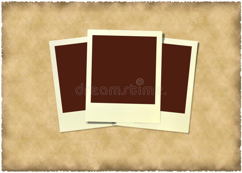 Polaroid frame at vintage background royalty free stock photos