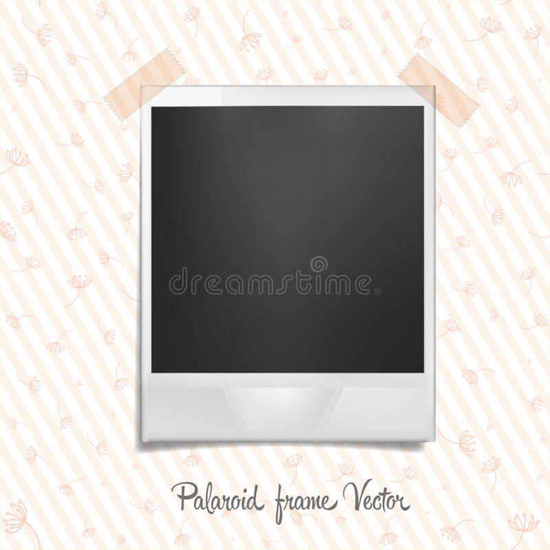 Polaroid Frame On Wallpaper Stock Vector  Illustration Of Edge