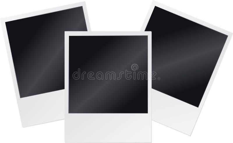 Polaroid- frames stock illustratie