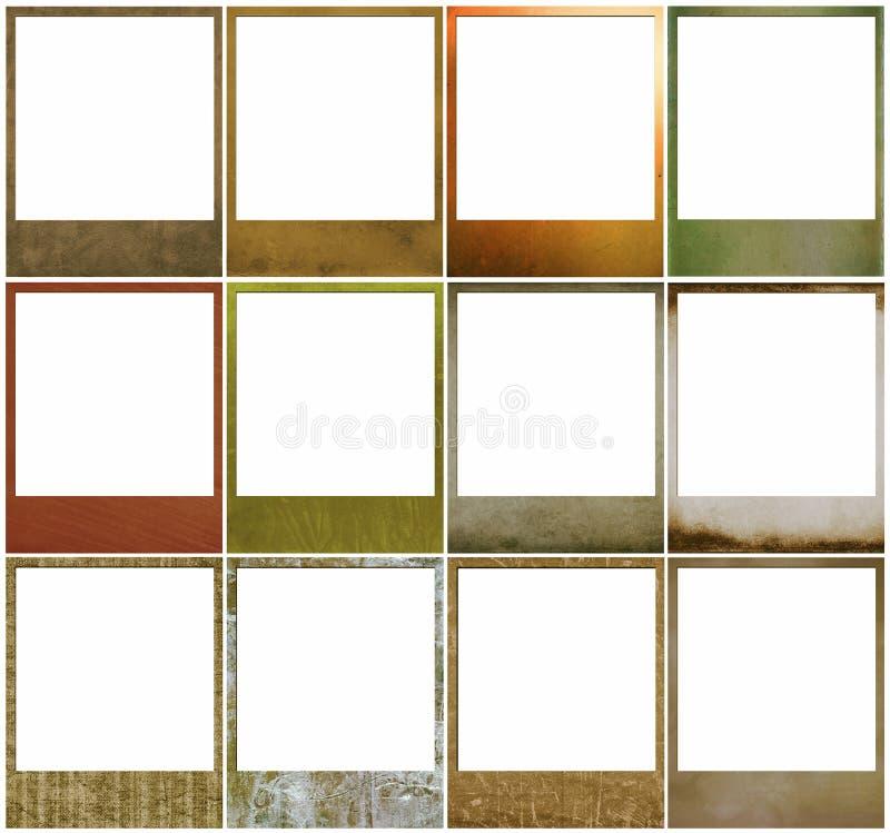 Polaroid frames. Retro polaroid photo frames isolated on white background stock images