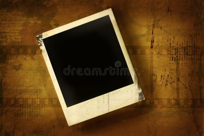 Polaroid gegen grunged Hintergrund lizenzfreie abbildung