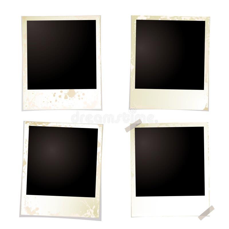 Polaroid- grunge vier band royalty-vrije illustratie
