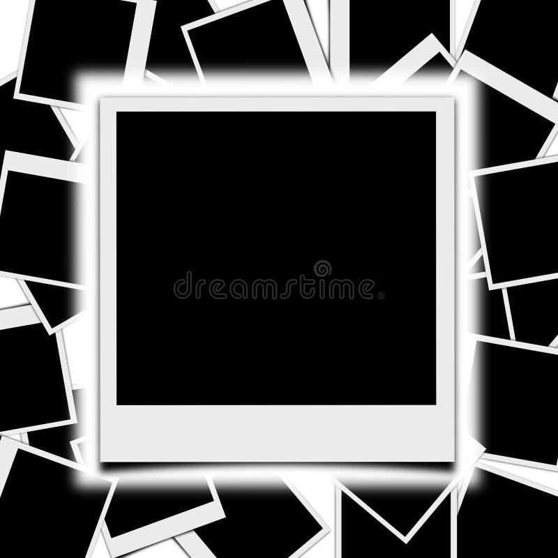 Polaroid i tecken royaltyfri illustrationer