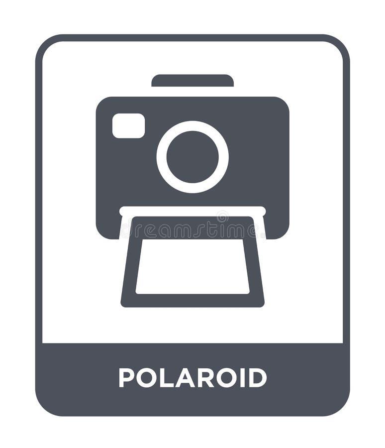 polaroid ikona w modnym projekta stylu Polaroid ikona odizolowywająca na białym tle polaroid wektorowej ikony prosty i nowożytny  royalty ilustracja