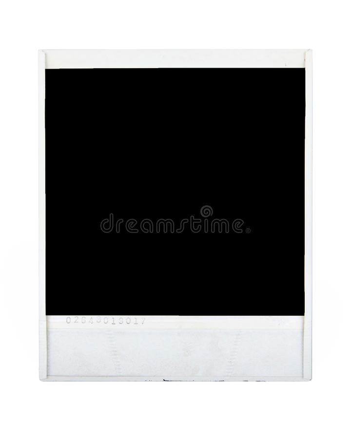 Polaroid image reverse royalty free stock images