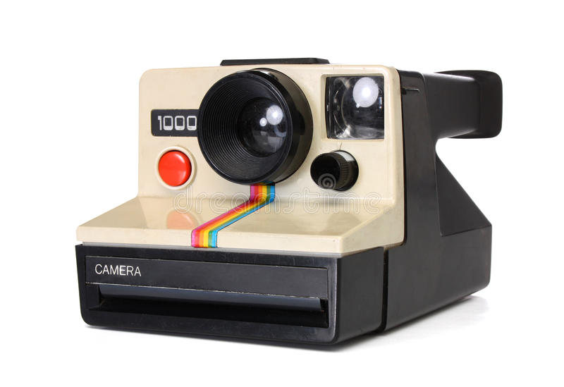 Polaroid instant camera stock photos