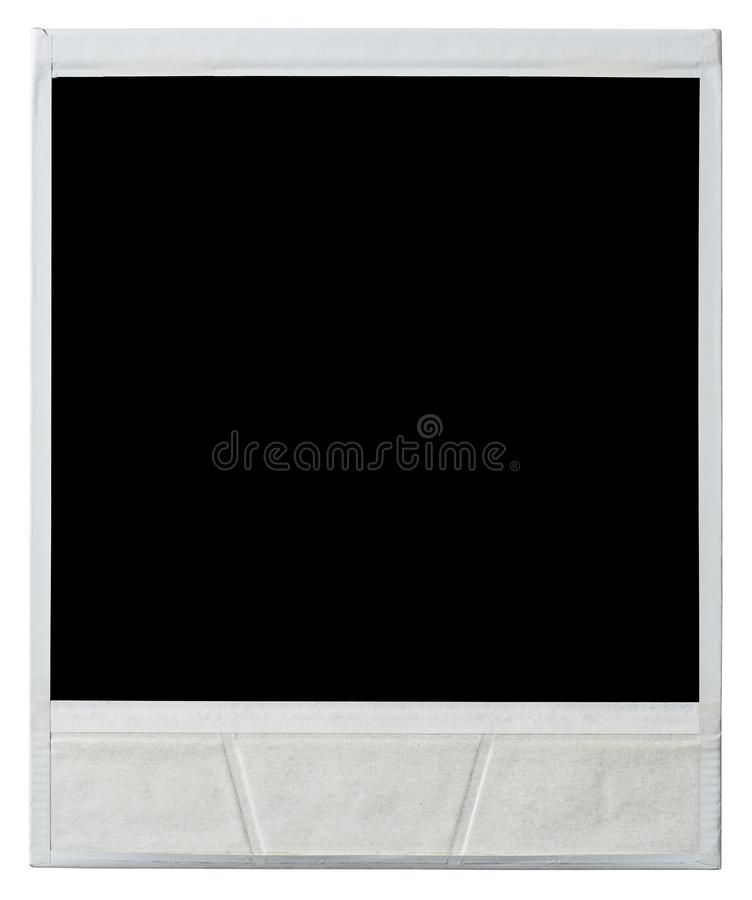 Instant photo frame rear view. Polaroid instant photo frame rear view isolated on white with clipping path included stock images