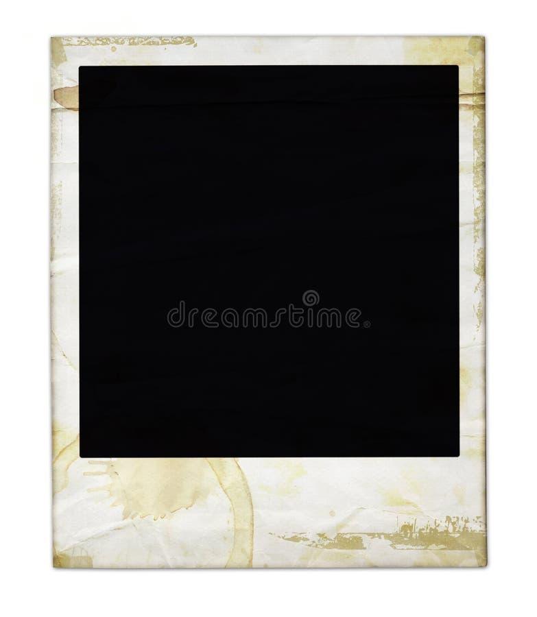 Polaroid invecchiato fotografia stock