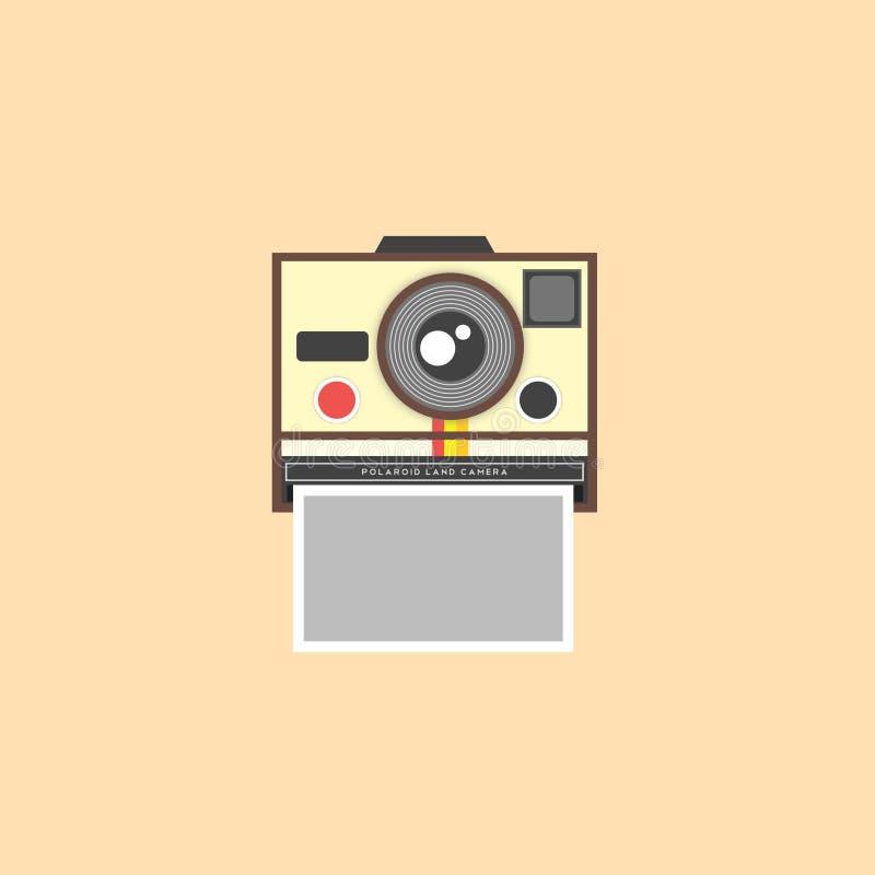 Polaroid- kamera stock illustrationer