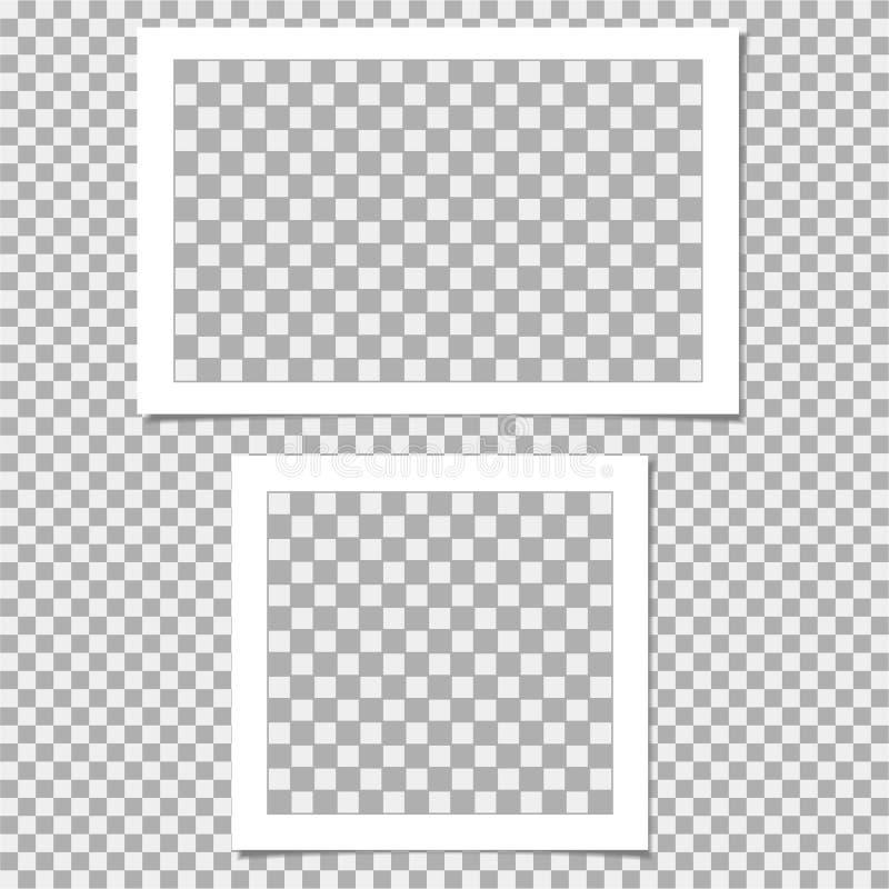 Polaroid kolekcja fotografii rama Wektorowy szablon dla twój modnego wizerunku lub fotografii ilustracji