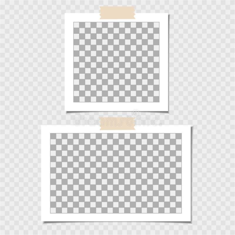 Polaroid, kolekcja fotografii rama Wektorowy szablon dla twój modnego wizerunku lub fotografii ilustracji