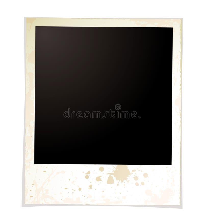 Polaroid llana de Grunge ilustración del vector