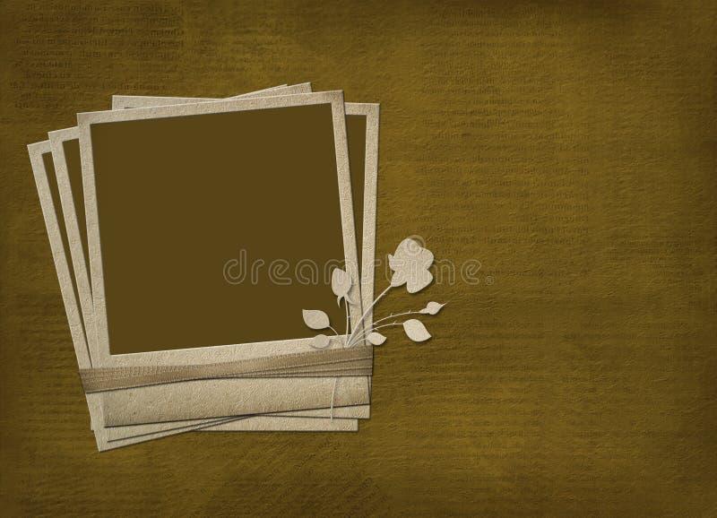 Polaroid met roze en linten royalty-vrije illustratie