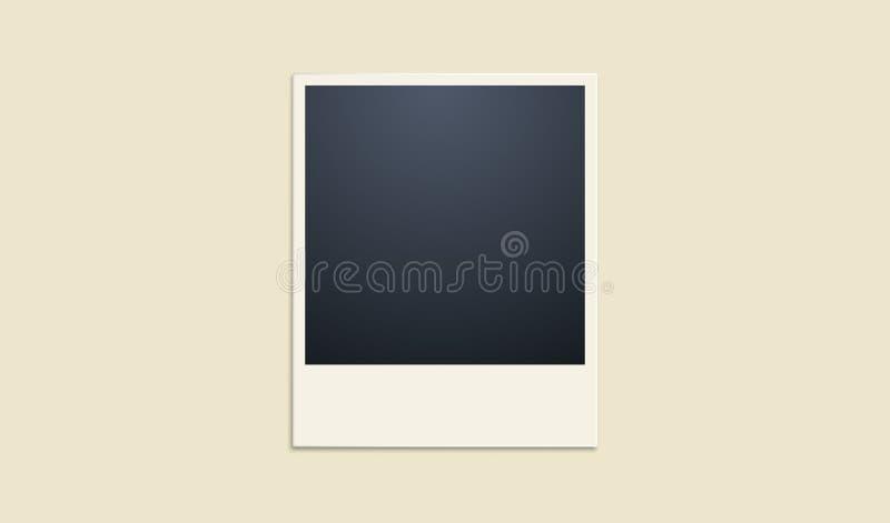 Polaroid na bladożółtym tle tła piękny czerń ramy dziury kpugloe deseniował fotografię wektor ilustracja wektor