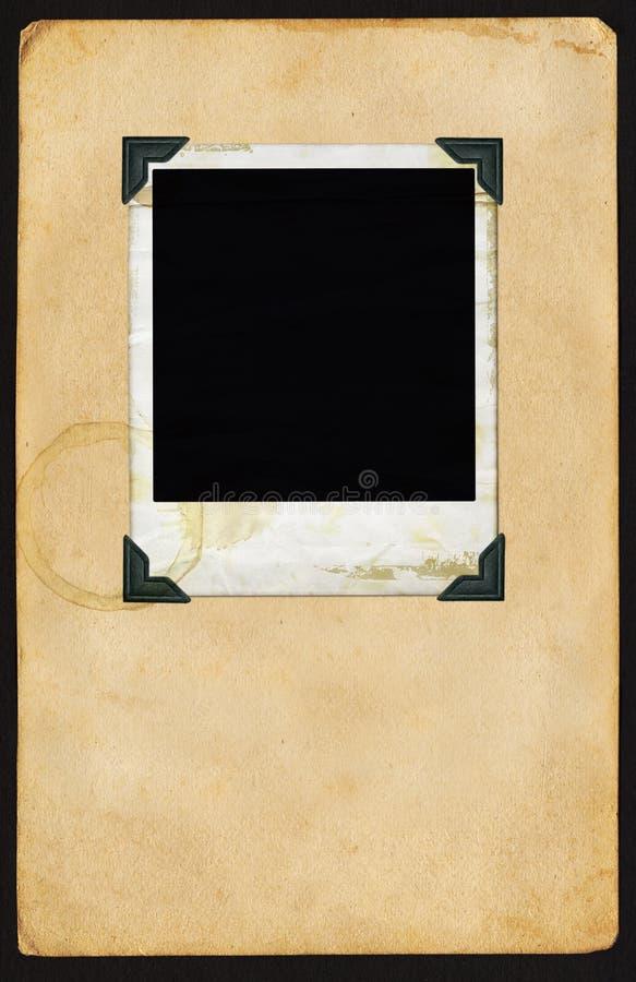 Polaroid na página fotografia de stock