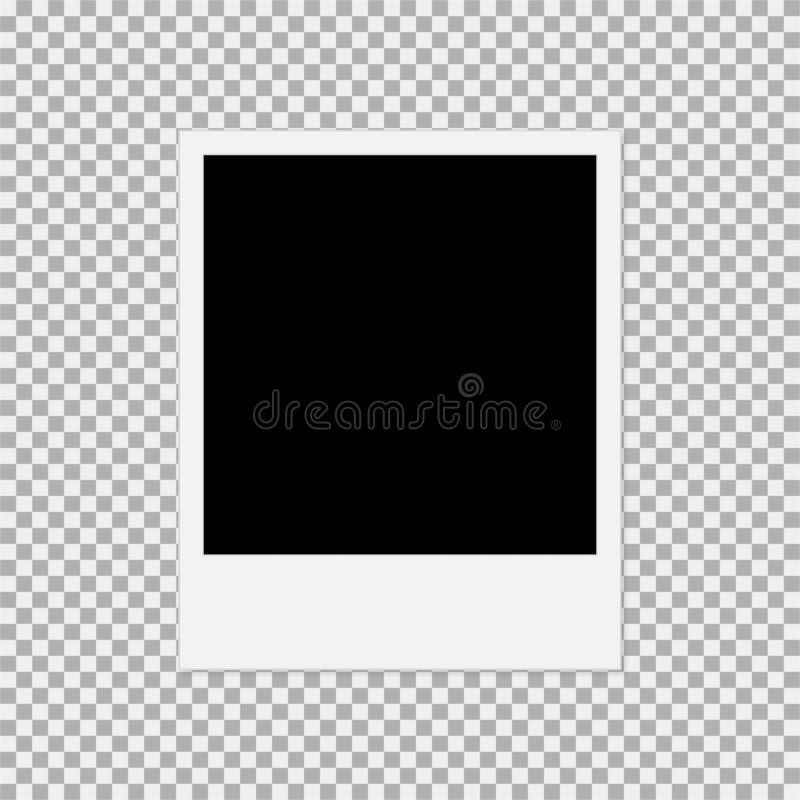 polaroid photo frame vector illustration 1 stock illustration
