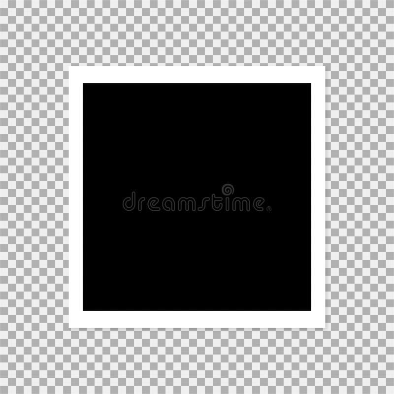 polaroid photo frame vector illustration 2 royalty free illustration