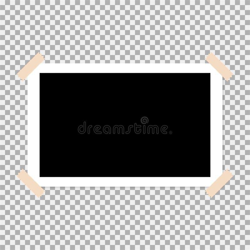 Polaroid photo frame vector illustration 4. Stock vector polaroid photo frame isolated on transparent background vector illustration