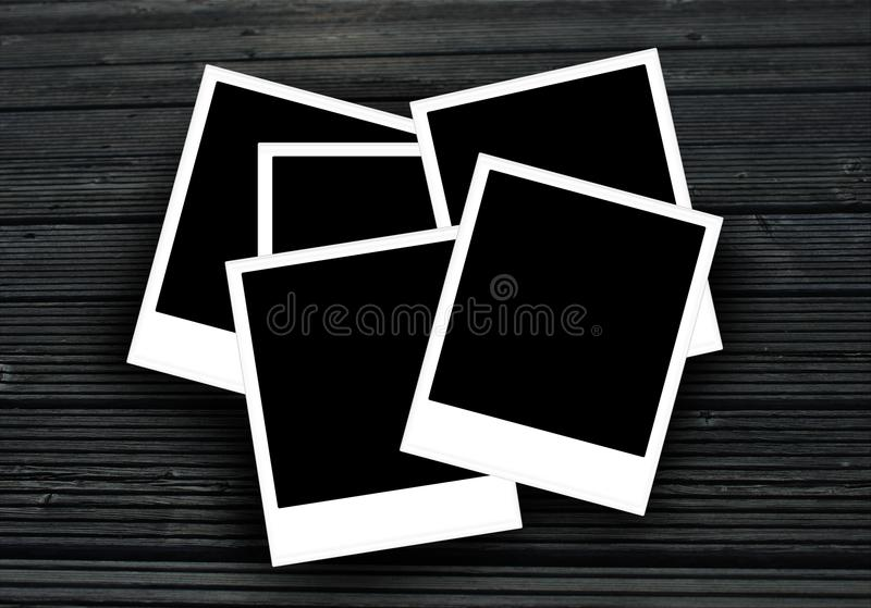 Polaroid photo frames with copy space for your photos. stock photography