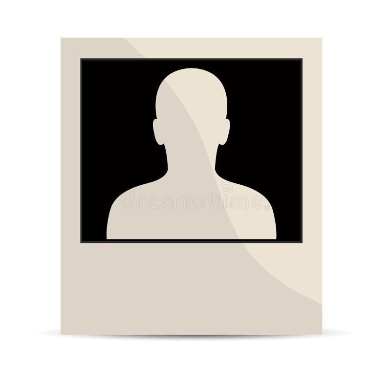 Polaroid portrait stock photo