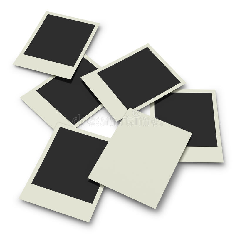 Download Polaroid Prints On White Background Stock Illustration - Illustration of design, nobody: 26514664