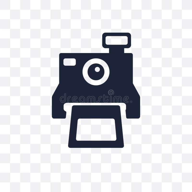 Polaroid przejrzysta ikona Polaroidu symbolu projekt od urodziny ilustracja wektor