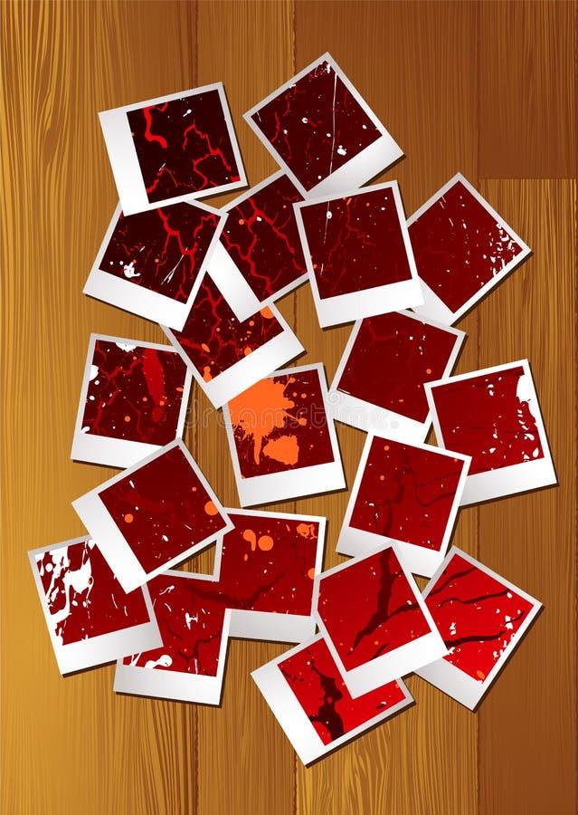 Polaroid- raadsel vector illustratie