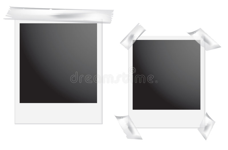 polaroid ramowy royalty ilustracja