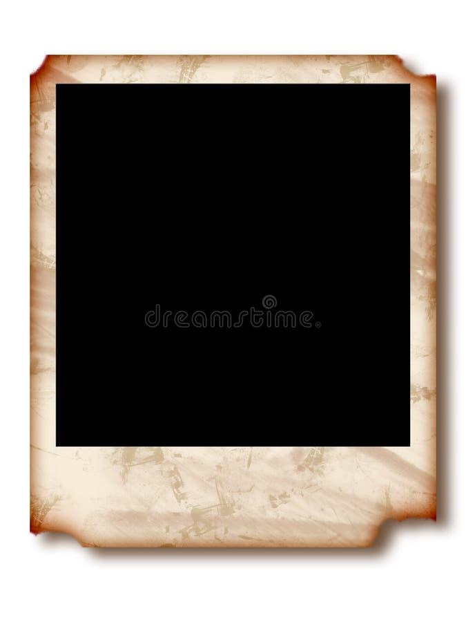 Polaroid rasgado ilustração stock